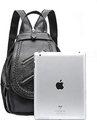 Tubackpack Soft Genuine Leather Womens Backpack Handbags for Satchel Shoulders Bag for School Girls