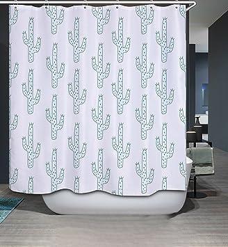 oberora Kaktus Digital Print Bad Vorhang Vorhänge Modern ...