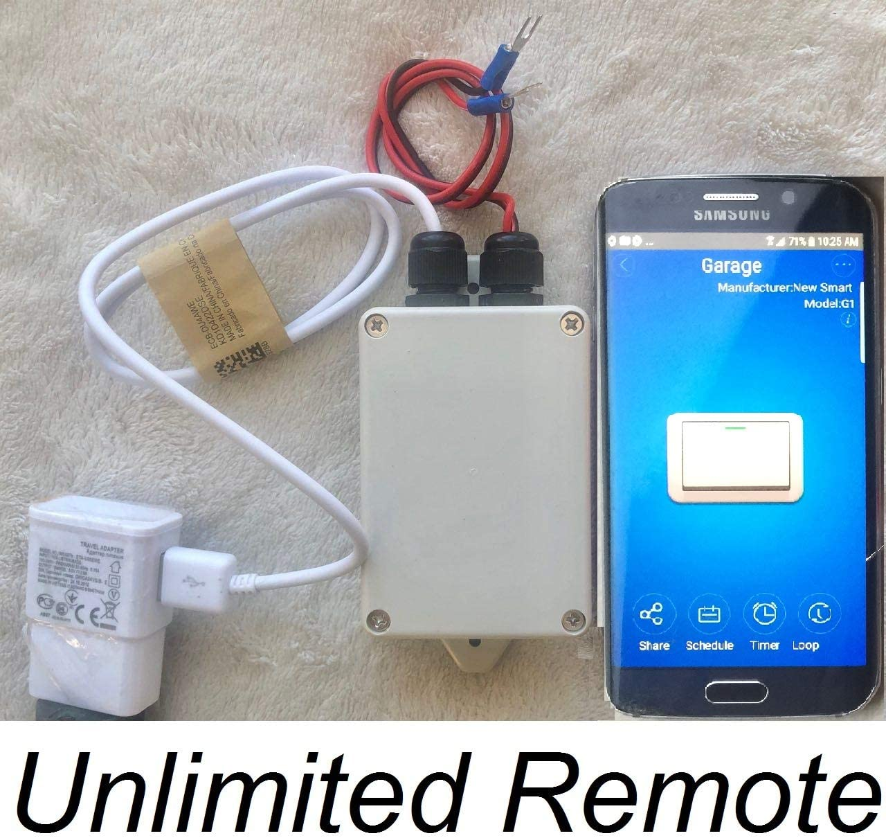 Wireless Garage Door Opener Remote WiFi Switch Open Gate Control By Smartphone