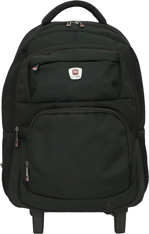 Amazon Com City Bag Hybrid Backpack On Wheels Laptop Trolley Wheeled Rolling 15 6 Computer Bag Hand Luggage Clothing