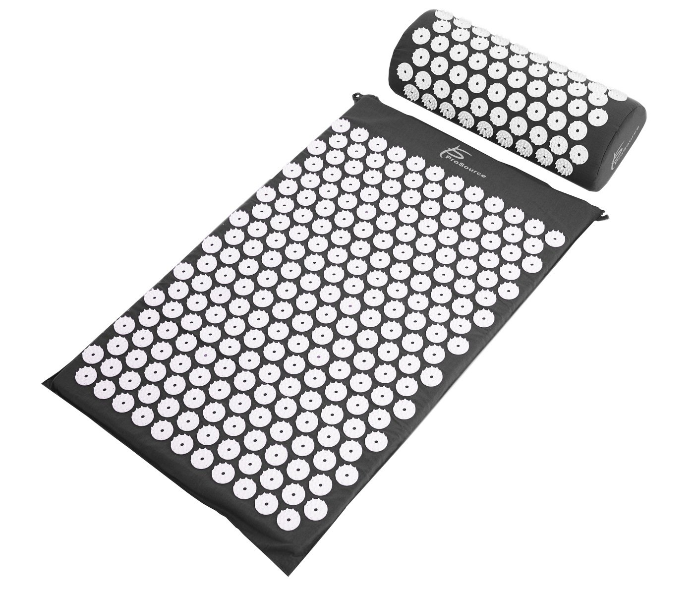 ProSource Acupressure Mat and Pillow Set for Back/Neck Pain Relief and Muscle Relaxation, Black by ProSource (Image #2)