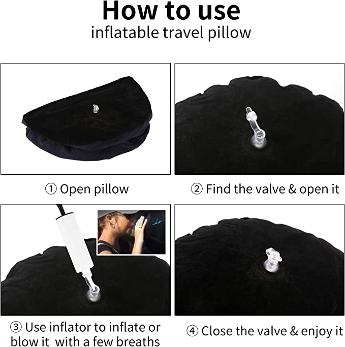 Inflatable Magic Sex Pillow for Adult Games,Sex Cushion for Couple, Sex Toys Position Support Pillow Travel Pillow with Inflator