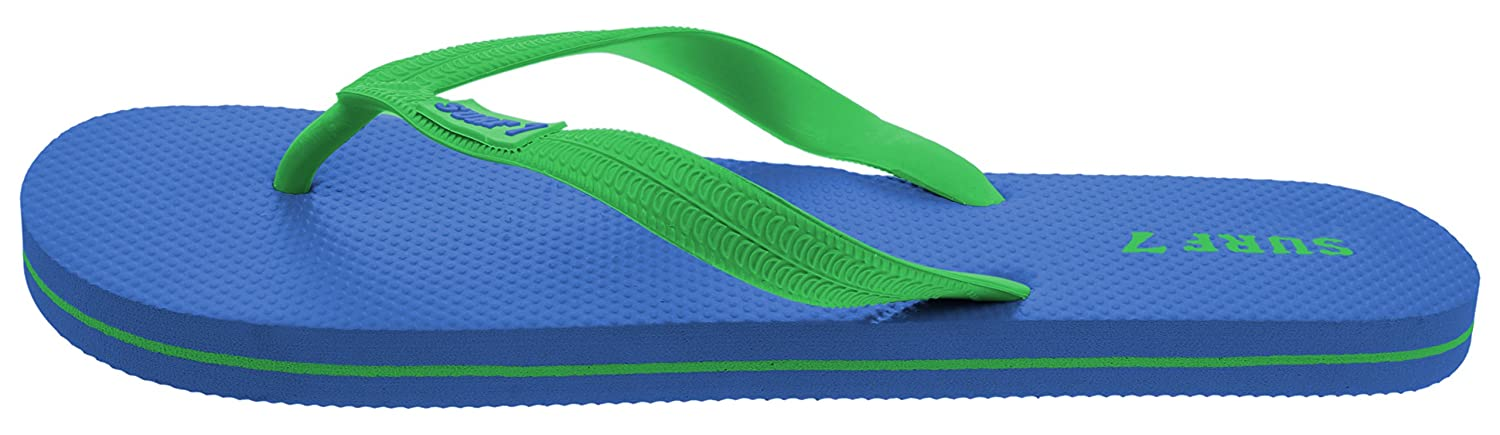Lucky 7 Mens Casual Classic Flip Flops Summer Beach Pool Vacation Sandals