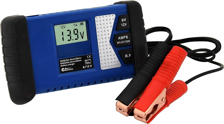 Compass 07154 Ladeger/ät Profi Mikroprozessor 6//12V PB//Gel//AGM