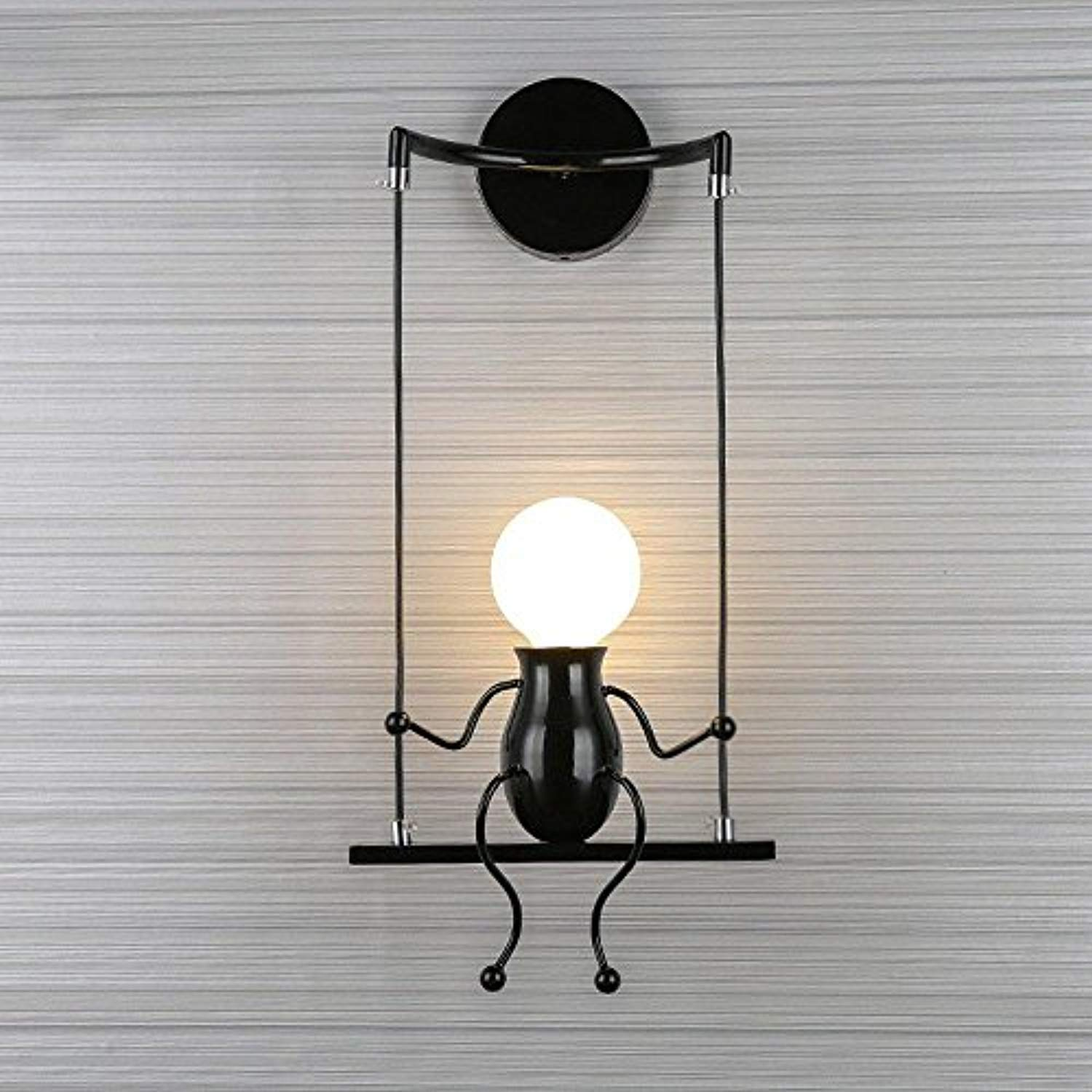 Wall Light Creative Simple Style Design Fixture Lighting Interior Decorative Lamp, Modern Lamp Simple Sconce Art Decoration-Black