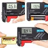 Hapure Batterietester Batterie Volt Prüfer Leicht zu lesen Ziffer Zeigte Leistung Ebene für AA AAA C D 9V 1.5V Taste Zelle BT-168D Batterien