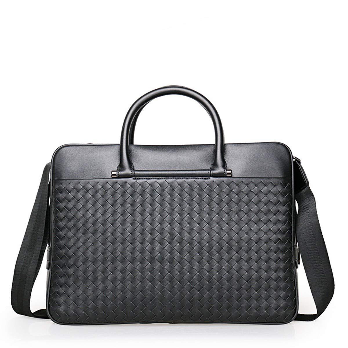 Lianai11 Laptoptasche Herren Aktentasche Hohe Kapazität Leder Geschäft Herren Aktentasche