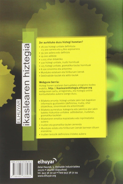 (1) Elhuyar Ikaslearen Hiztegia (Hiztegiak Eta Mapak): Amazon.es: Batzuk:  Libros