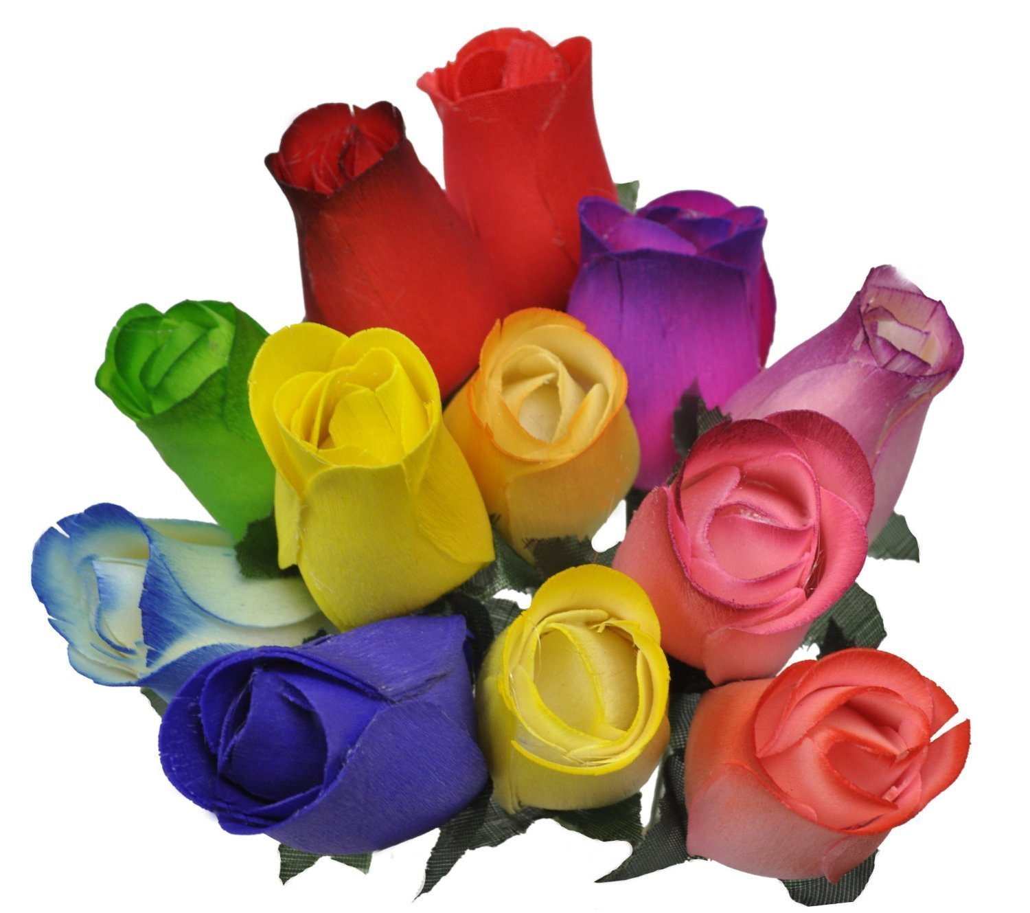 Amazon 2 dozen 24 wooden roses colorful arrangement in sleeve amazon 2 dozen 24 wooden roses colorful arrangement in sleeve home kitchen izmirmasajfo