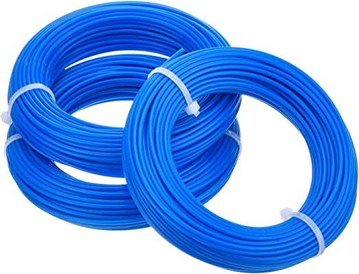 LuLyLu 3 Piezas 1,65 mm Hilo de Desbrozadora Redondo Cable de Recortadora Carrete de Reemplazo para Desbrozadora de Hierba Podadera, 15 m by: Amazon.es: Hogar