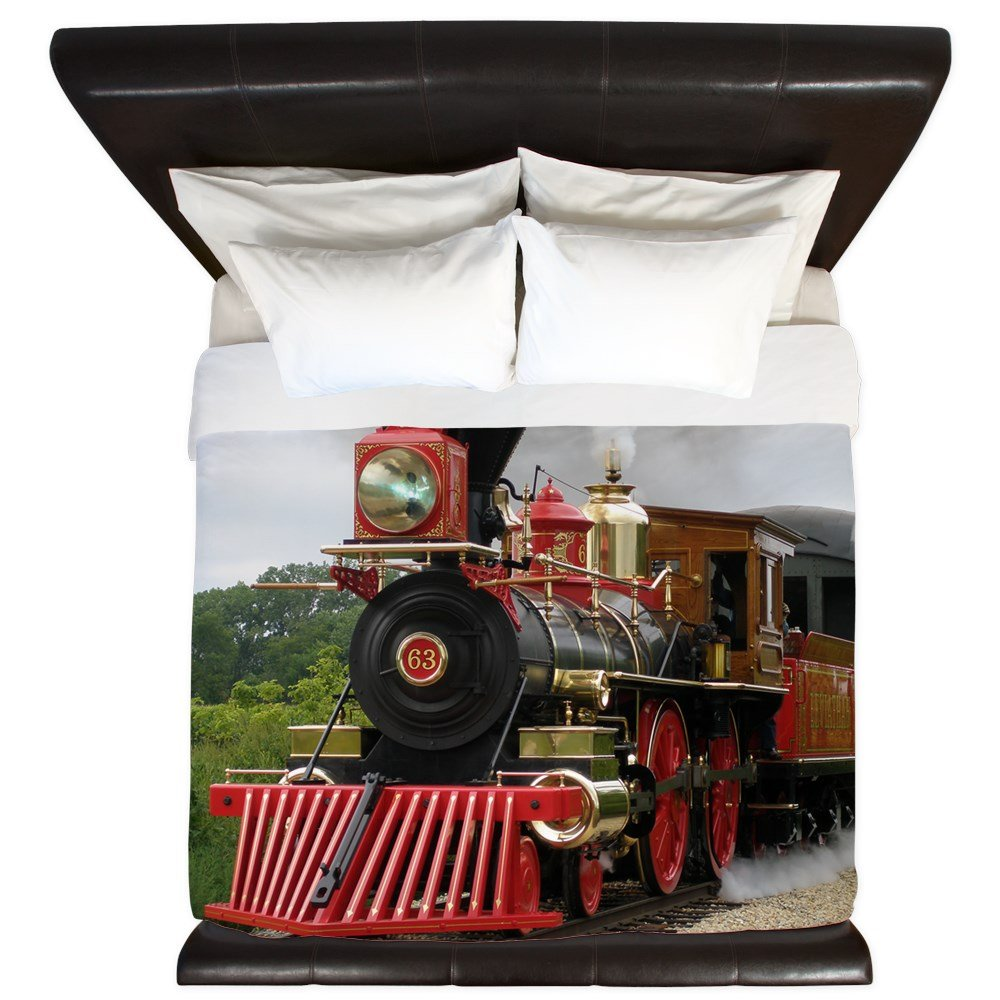 CafePress - Steam Engine Leviathon 63 - King Duvet Cover, Printed Comforter Cover, Unique Bedding, Microfiber