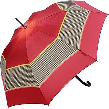 Knirps T.703 Stick Automatic Regenschirm Accessoire Check Beige Beige Schwarz Damen-accessoires Regenschirme