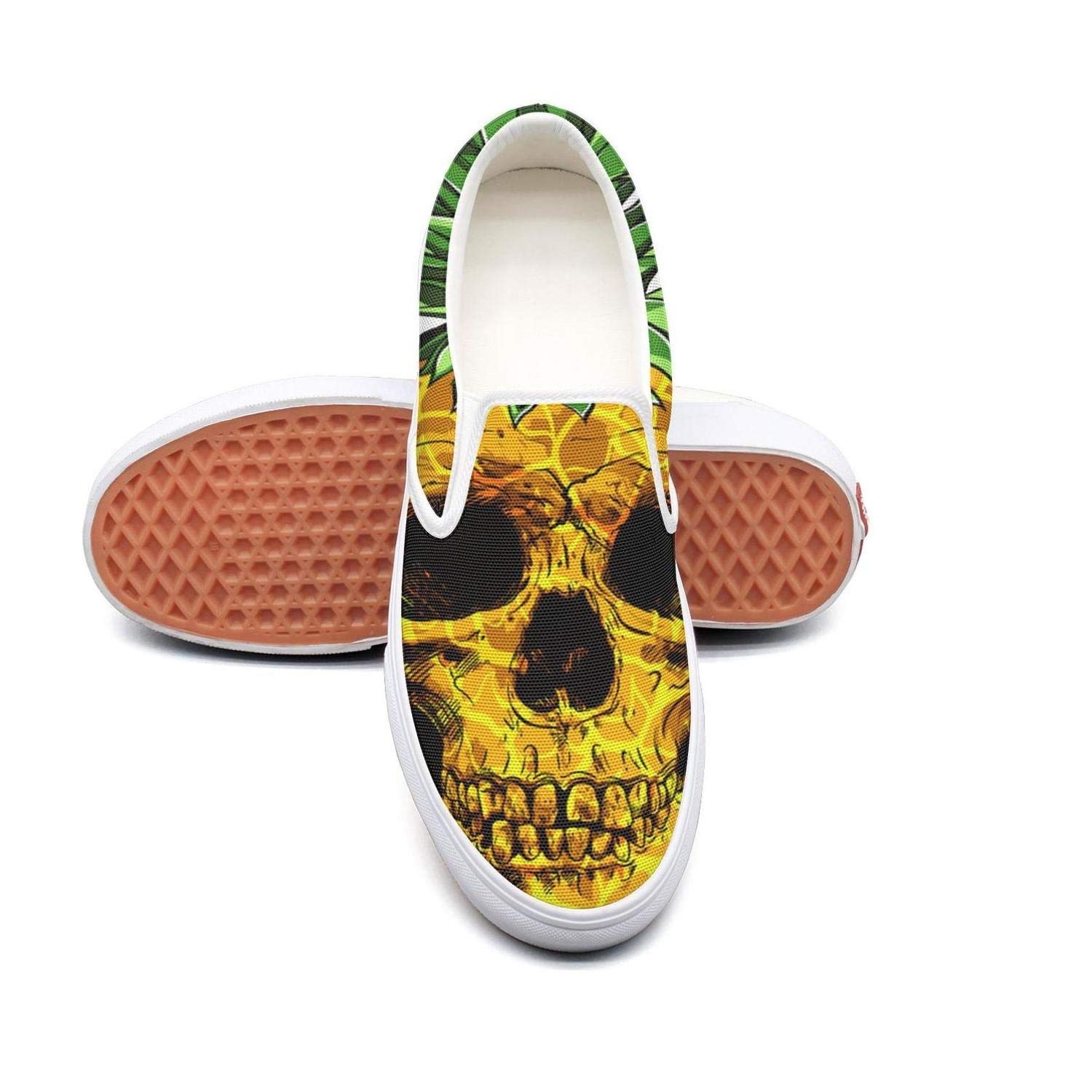 Vosda Mens red Flower Pineapple Drawing Decoration Sneaker Shoes for Mens Comfortable and Lightweight Best Running Shoes