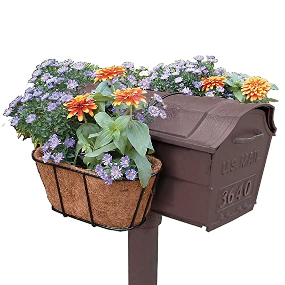 Amazon Com Plastec Mfgbcm Mailbox Flower Garden With Coco Mat Liner