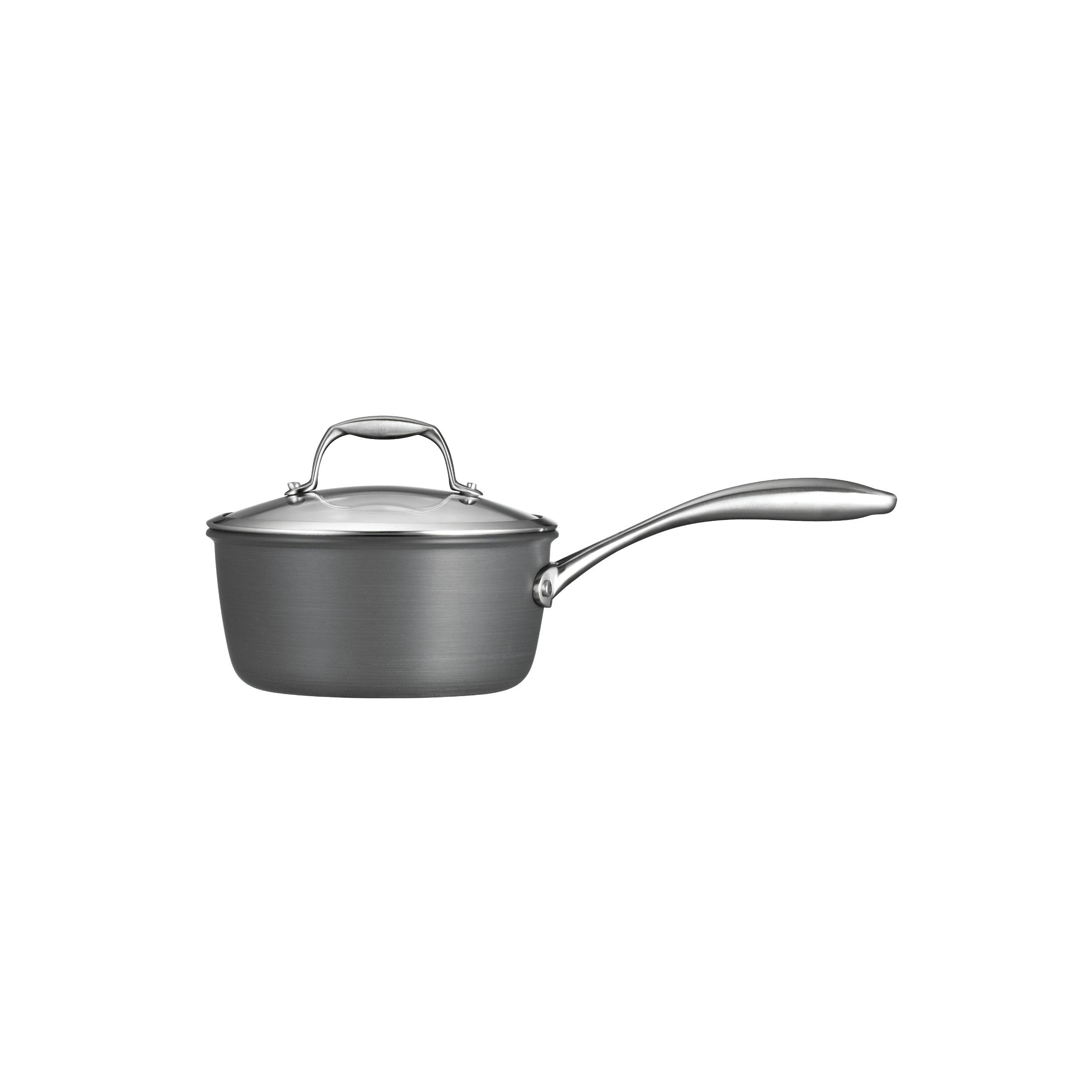 Tramontina  80123/011DS Gourmet Heavy-Gauge Aluminum Nonstick Covered Sauce Pan, 2-Quart, Hard Anodized