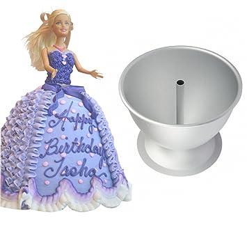welliestr molde para tarta para muñeca Barbie, diseño de vestido de princesa vestido de decorar, molde de repostería (molde para hornear de aluminio de ...