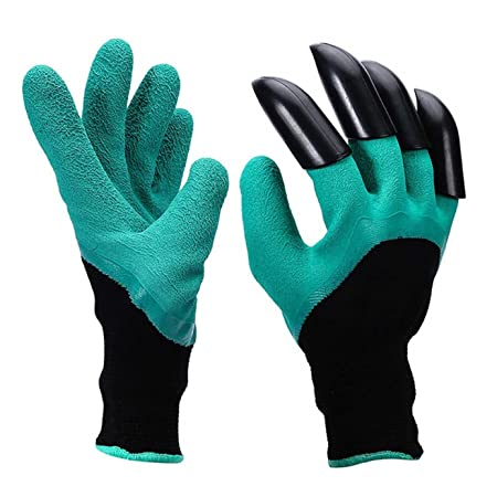 Styleys Garden Gloves with Claws for Digging & Planting - No More Worn Out Fingertips - Unisex - One Size Fits All - 1 Pair