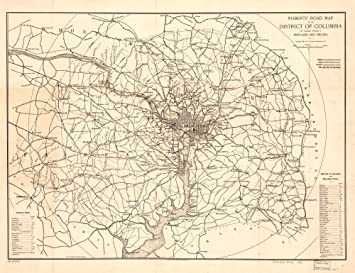 Amazon vintage 1896 map of roberts road map of the district of vintage 1896 map of roberts road map of the district of columbia and adjoining portions publicscrutiny Image collections