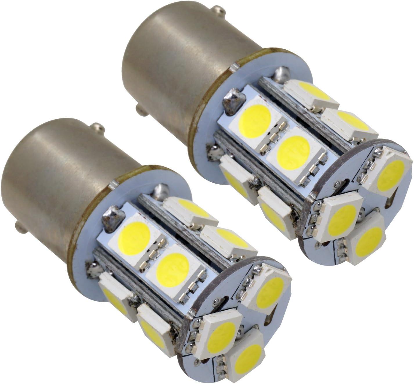 OPAP 2 x 1156 BA15S voiture Lampes de 13 LED SMD Clignotant Feux stop feu arri/ère de Marche Arri/ère Phare 12 V Blanc