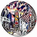 HORLOGE MURALE NEW YORK BIG APPLE CUISINE QUARTZ HORLOGE 30 cm - Collection de Tina - Le design légèrement différent