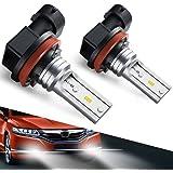 H8 H11 Led Fog Light Bulb, Marsauto H16 Led Fog Lamp High Power CSP-Y11, Cool white 5500-6500K (pack of 2)