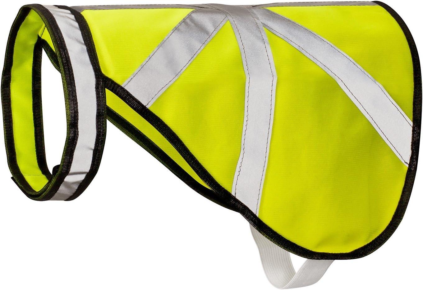 2-TECH Hunde Warnweste Schutz und Reflektorweste neon