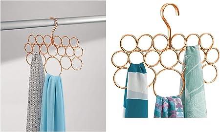 New Latest Hanging SCARF ORGANISER Holder Hanger with 16 Rings UK SELLER