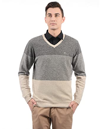 9904166509 Monte Carlo Men Sweater( 8907678285314 Grey Brown 42 )  Amazon.in ...
