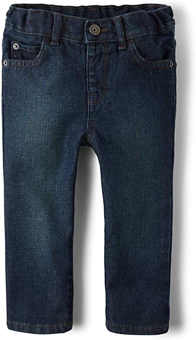 The Childrens Place Boys Baby and Toddler Basic Skinny Jeans 3T Dark Blue Wash