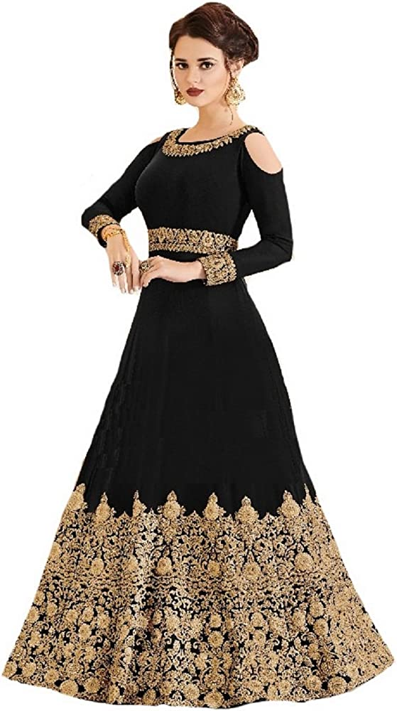 black long dress indian