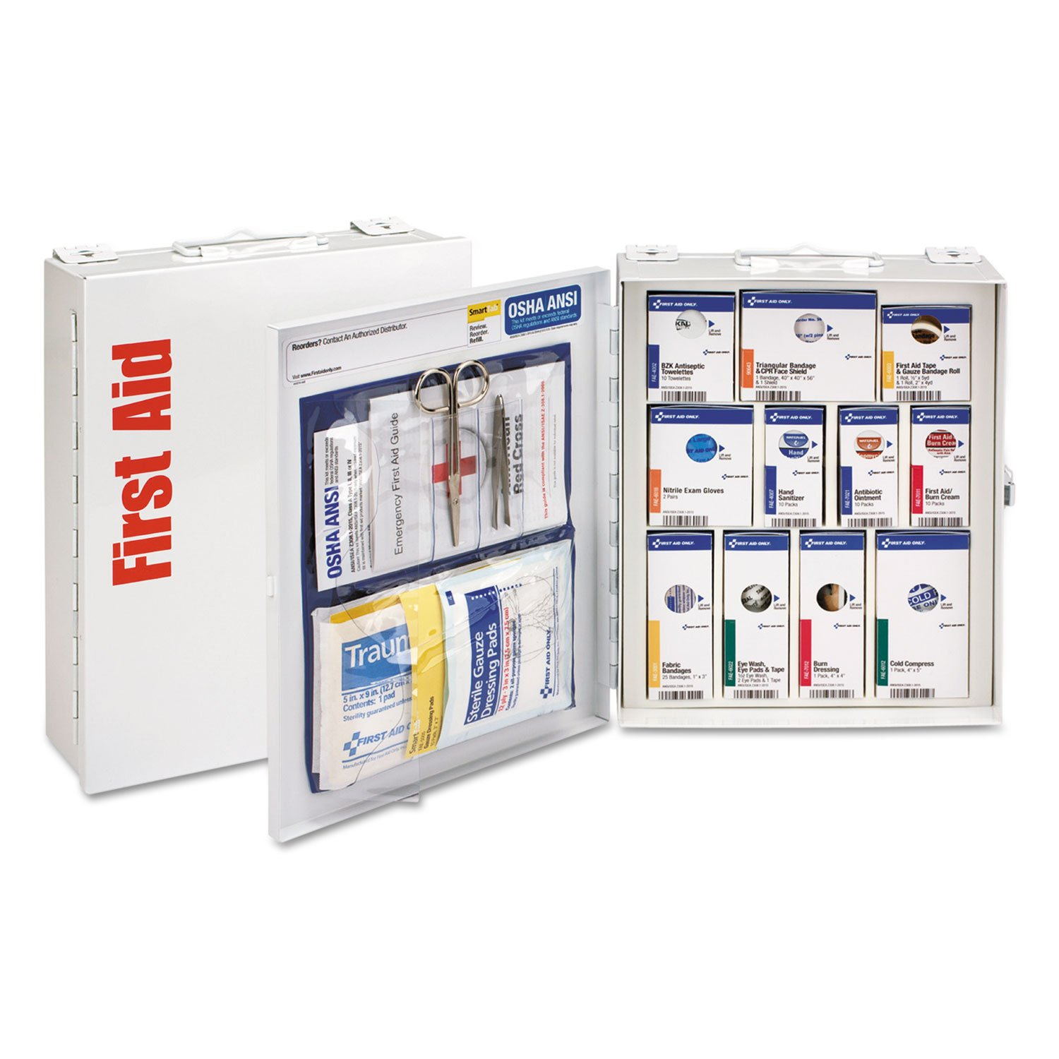 Smartcompliance First Aid Station For 25 People, 96 Pieces