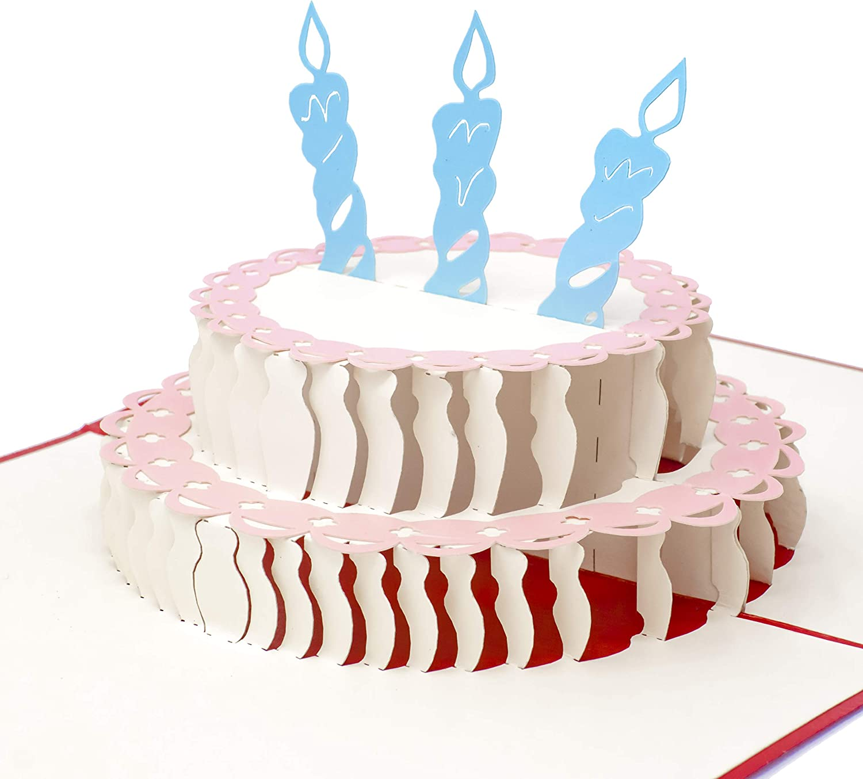 Stupendous Amazon Com Paper Love Pop Up Birthday Card Happy Birthday Cake Personalised Birthday Cards Veneteletsinfo