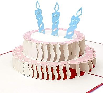 Sensational Amazon Com Paper Love Pop Up Birthday Card Happy Birthday Cake Personalised Birthday Cards Arneslily Jamesorg