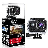 slpro® Action Cam 1080p Full HD fotocamera azione subacquea impermeabile macchina fotografica del casco 170° grandangolare con kit accessori e batteria di Sport Camera