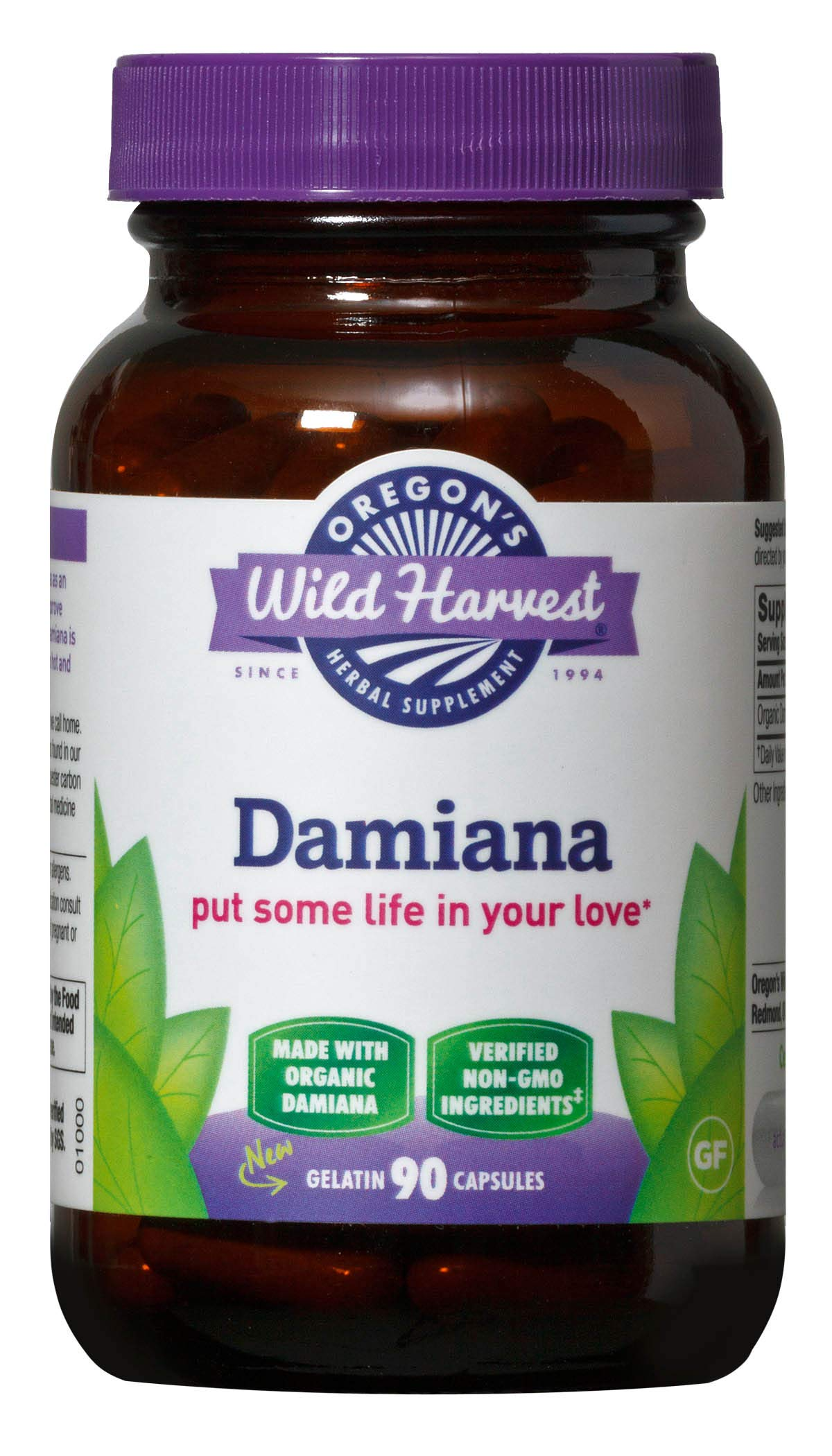 Oregon's Wild Harvest Damiana Organic Herbal Supplement, 90 Count by Oregon's Wild Harvest