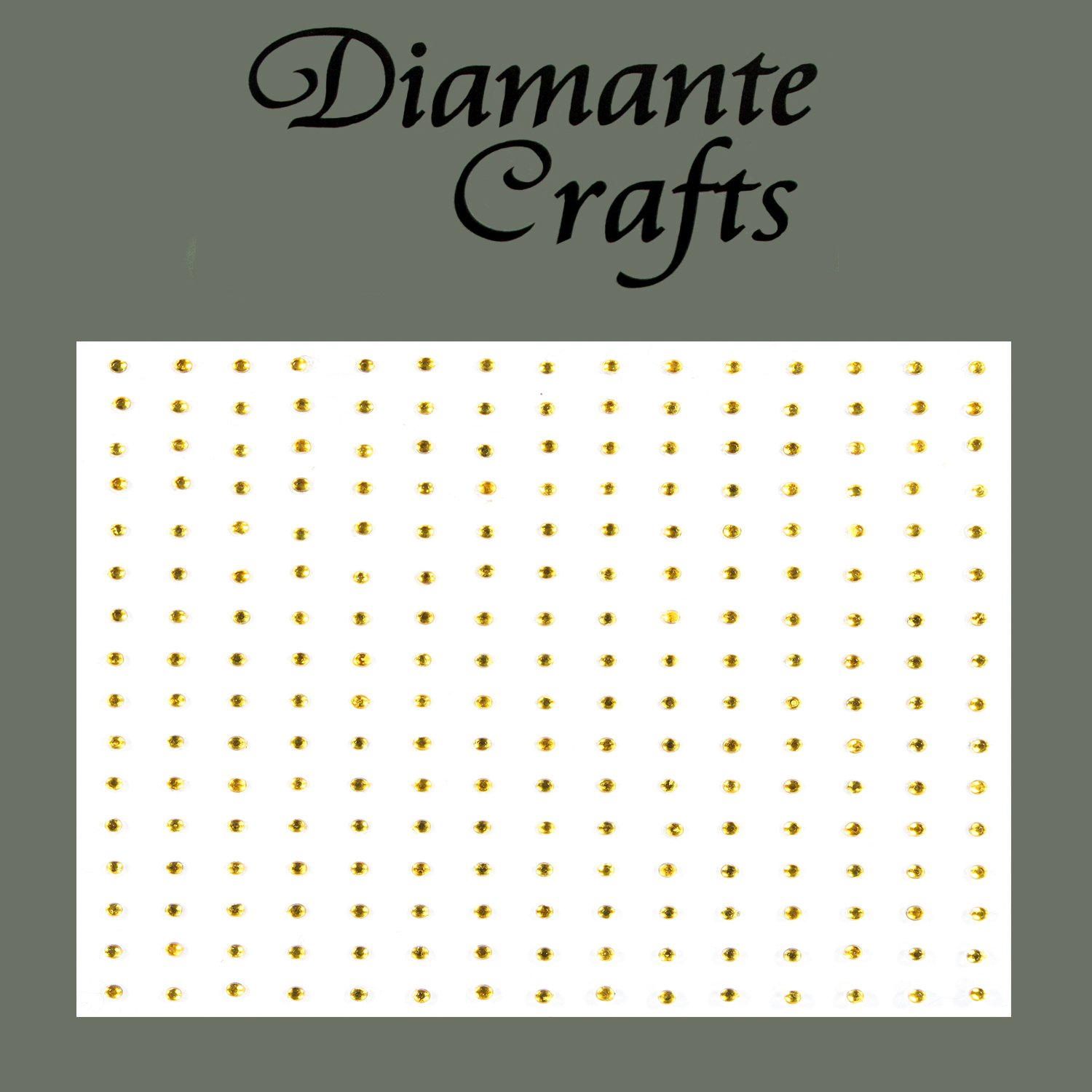 240 x 1mm Gold Diamante Self Adhesive Rhinestone Body Nail Vajazzle Gems - created exclusively for Diamante Crafts