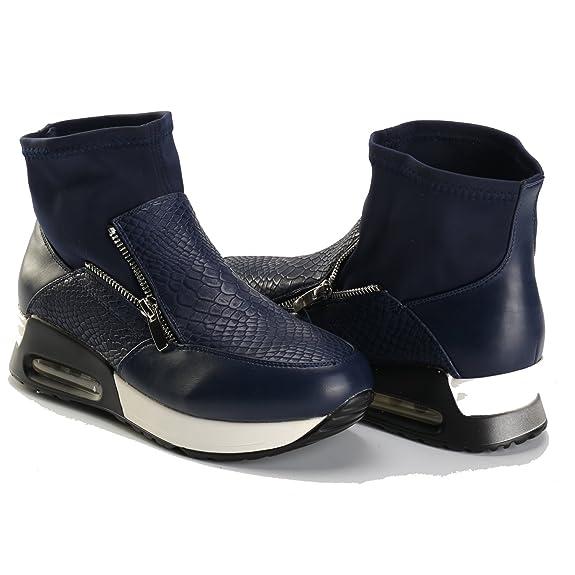 Alexis Leroy Zapatillas de deporte altas en con elástico y calcetín mujer Negro 40 EU/7 UK QIvWeguB