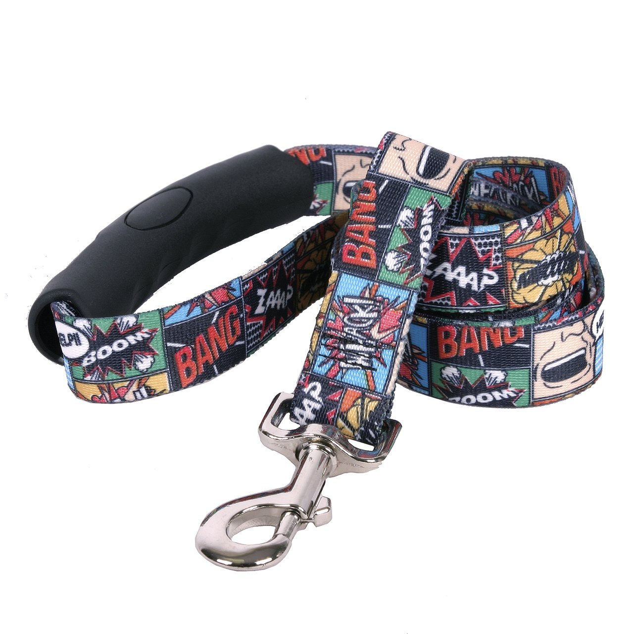 Yellow Dog Design Vintage Comics EZ-Grip Dog Leash-with Comfort Handle-Large-1'' Wide and 5 feet (60'') Long