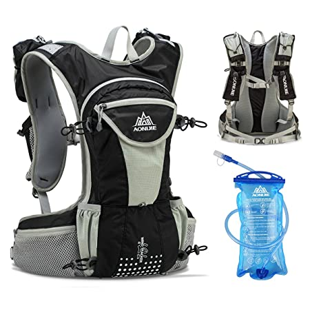 JEELAD 12L Running Vest Hydration Pack Backpack Waterproof Hydration Vest for Skiing Marathon Running Race Hiking Cycling