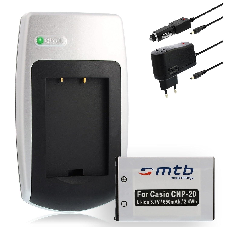 Z75 Z770 Z77 Bateria Cargador doble NP-20 NP20 para Casio Exilim EX-Z70