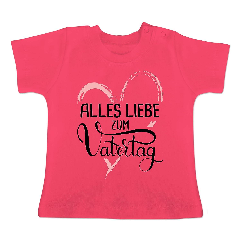Baby T-Shirt Kurzarm Vatertag Baby Alles Liebe zum Vatertag Rosa