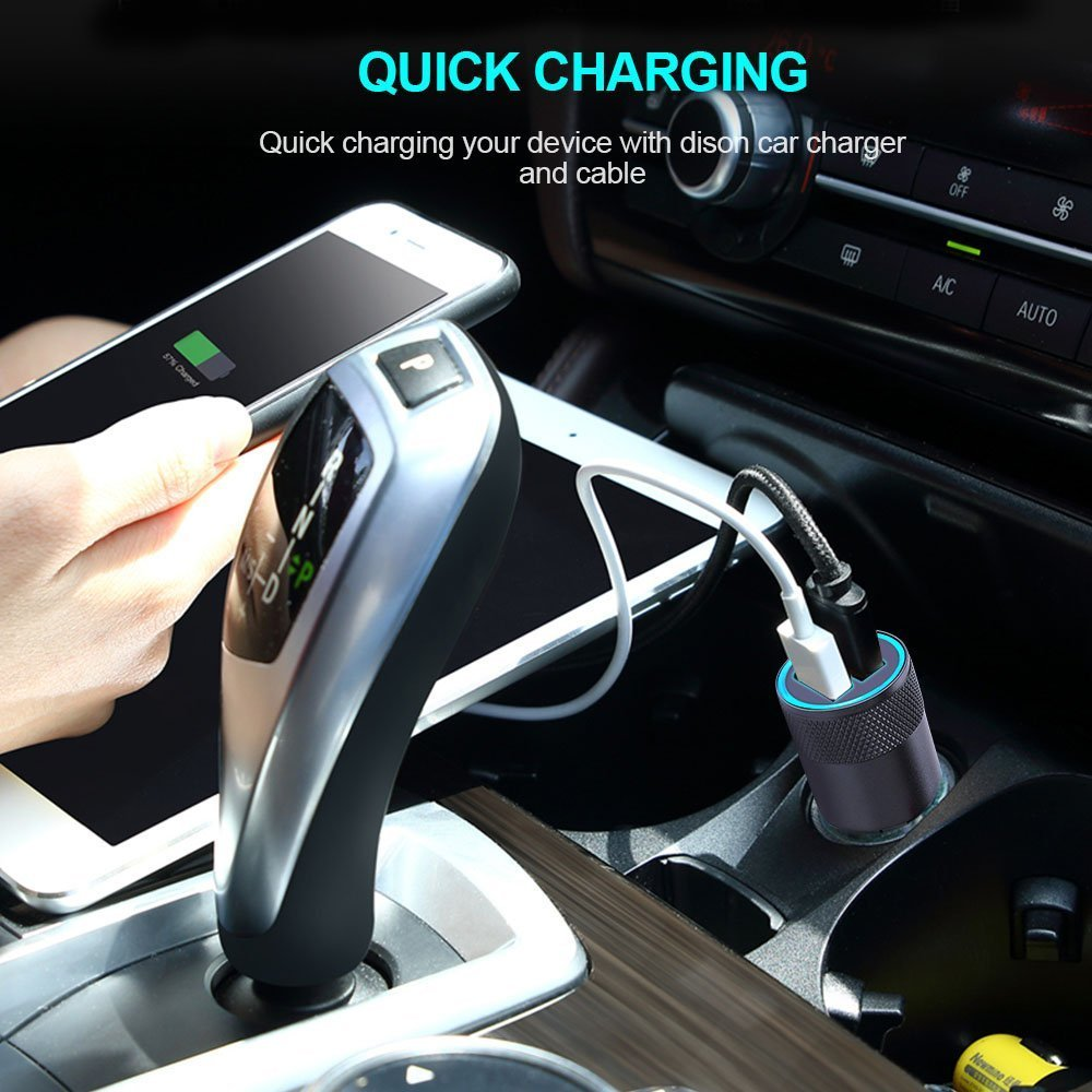 USB C Car Charger HTC U11//10 Sngg Qucik Charge 3.0 Type C Car Charger with 3ft Type C Cord Compatible Samsung Galaxy S9 Plus//S9//S8 Plus//S8 Nexus 6P//5X Note 9//8 Pixel 2 XL//2 4351485612 LG V40//V35//G7//G6