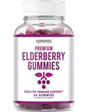 Elderberry Gummies - Supports Immune System Health - Made with Premium Plant-Based Pectin - NO Gelatin, NO Fructose Corn Syrup, Gluten Free - Natural Ingredients 60 Gummies Per Bottle (Adult)