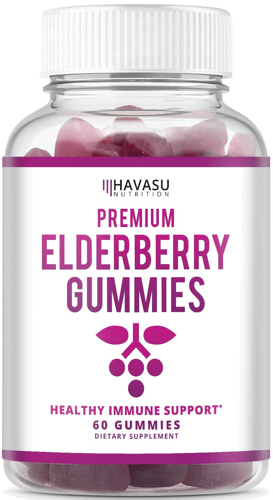 ee32fd0e247 Elderberry Gummies - Supports Immune System Health - Made with Premium  Plant-Based Pectin - NO Gelatin
