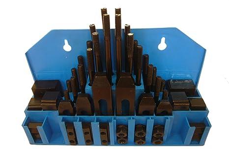 58 Pc Pro-Series 1//2 T-Slot Clamping Kit Mill Machinist Set 3//8-16