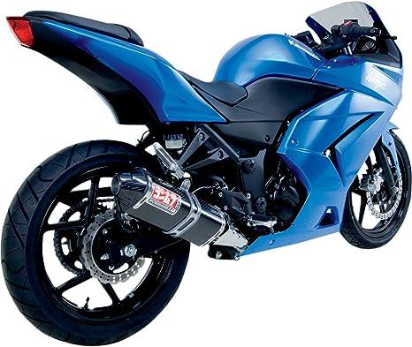 Yoshimura TRC Carbon Fiber Tri-Oval Complete Exhaust System - Kawasaki Ninja 250R 2008-2011