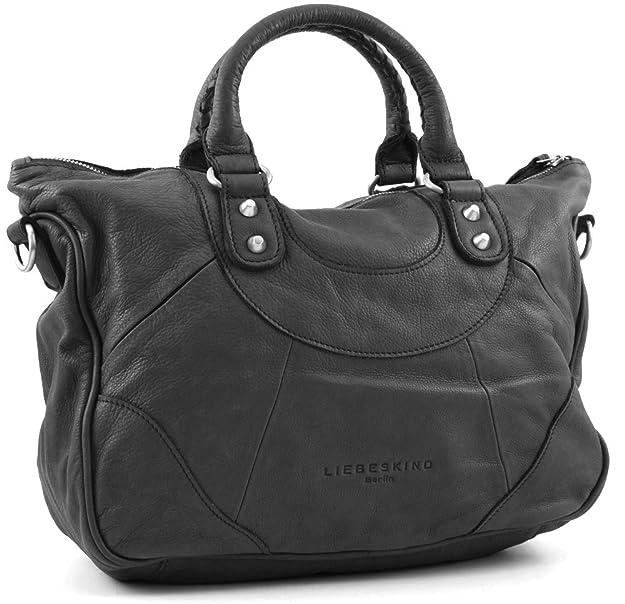 d3fee04c543e Liebeskind Berlin Damen Tasche EstherB Vintage in Black und Dark Blue,  Größe OS Farbe Schwarz  Amazon.de  Bekleidung