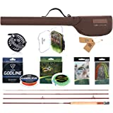 FISHINGSIR Fly Fishing Rod and Reel Complete Combo Anglers Fly Outfit, Complete Starter Full Kit