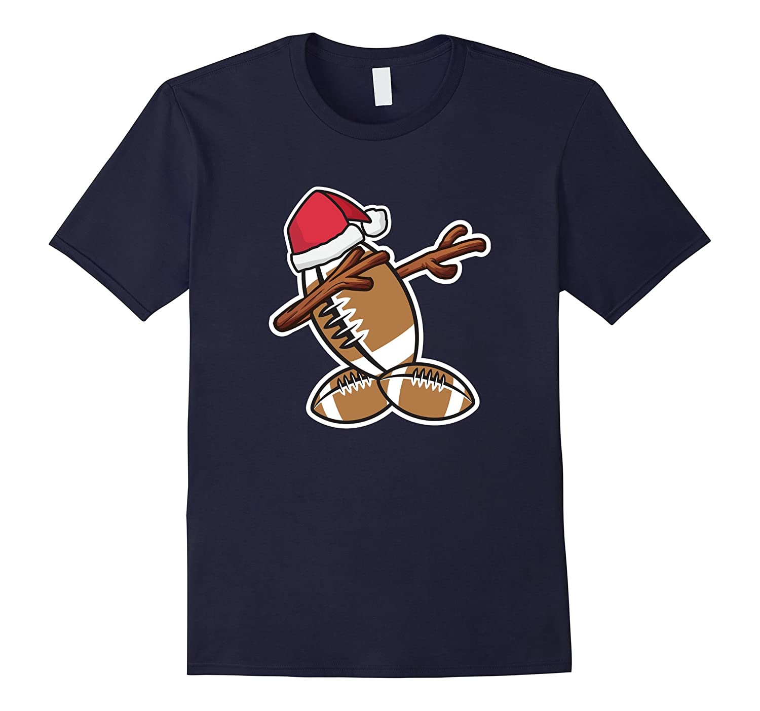 Dabbing Football Snowman T-Shirt Christmas Pajama Shirt-ah my shirt one gift
