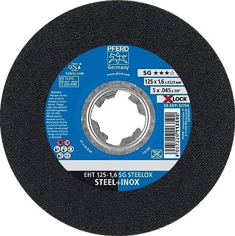 PFERD 61341123 X-Lock - Disco de corte (acero inoxidable ...